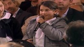 """¿De pequeño quería ser presidente?"": Francesca, la niña que le sacó una sonrisa a Vázquez"