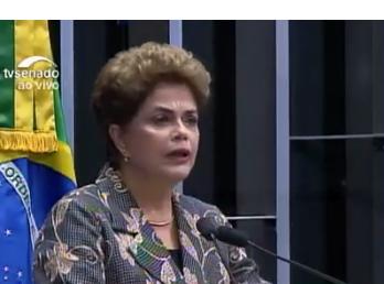 """""""Resistí la tempestad del terror. no cambié de lado. He honrado el compromiso con mi país"""", dijo Dilma Rousseff"""