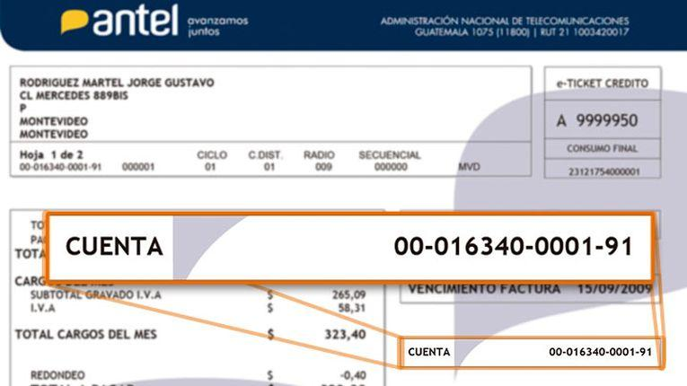 Antel cobrará 29 pesos envío de factura a domicilio que no explica nada