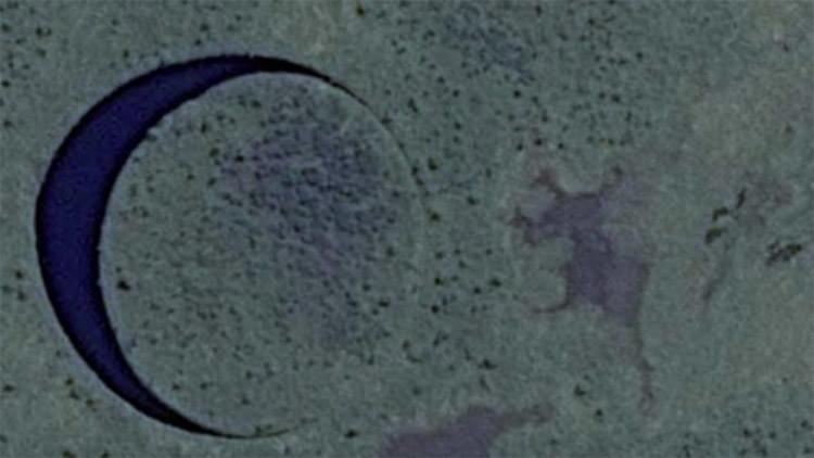 Hallan una desconcertante isla circular que se mueve en Argentina