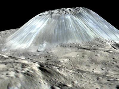 La NASA descubre un volcán de hielo y agua en el planeta enano Ceres